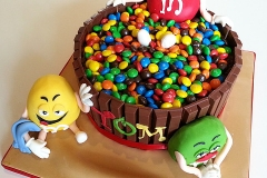 M and M's Birthday Cake