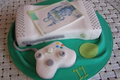 X-Box White Birthday Cake