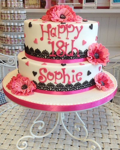 2 tier Ladies Birthday Cake