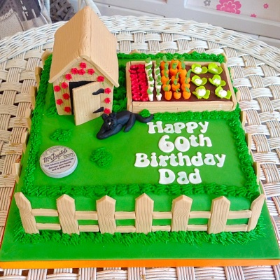 Allotment Mens Birthday Cake