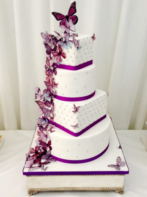 Purple Black And White Cakes