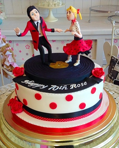 Dancing on a record Ladies Birthday Cake