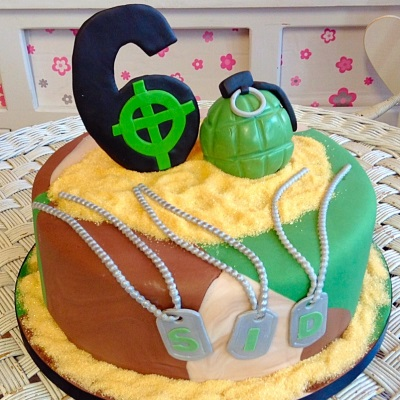 Grenade Mens Birthday Cake