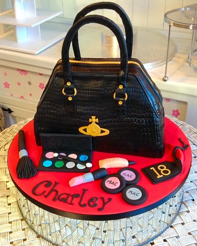Handbag And Makeup Ladies Birthday Cake