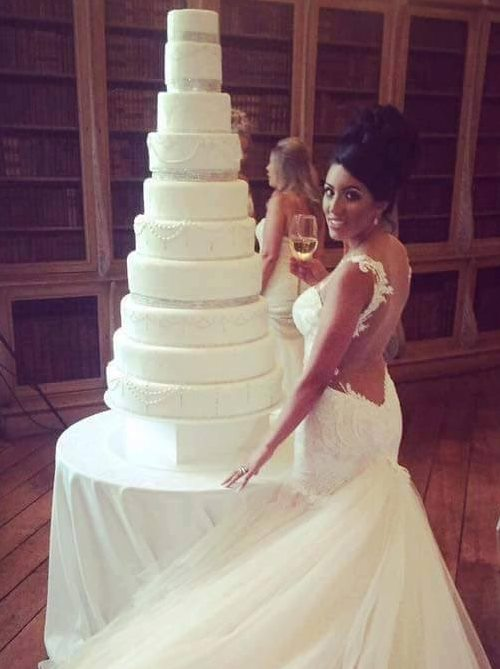 Kallum Watkins and Sophie Watkins 10 Tier Wedding Cake