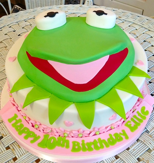 Kermit the Frog Girls Birthday Cake
