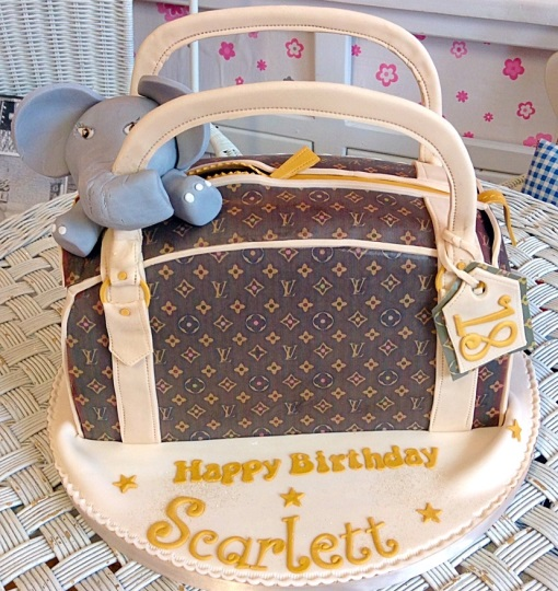 Louis Viton Handbag Girls Birthday Cake