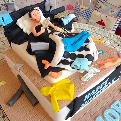 Messy Bed Mens Birthday Cake