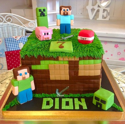 Minecraft Boys Birthday Cake