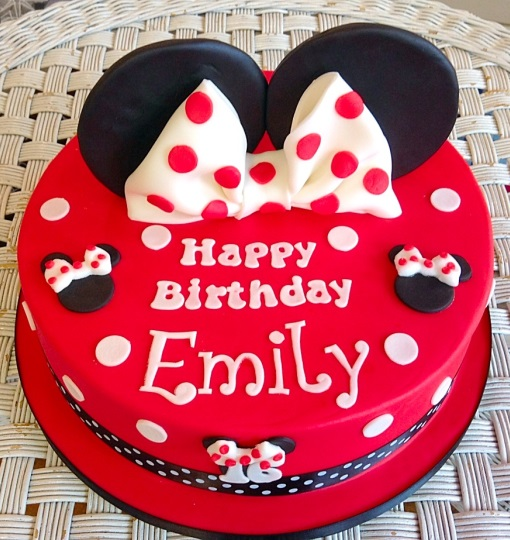 Minnie Mouse Girls Birthday Cake