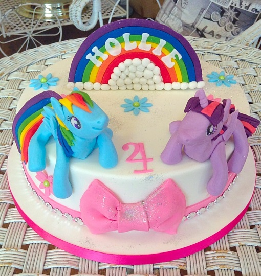 Rainbow Unicorn Girls Birthday Cake