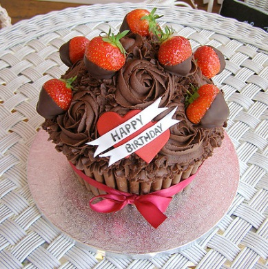 Strawberry Giant Cup Cake