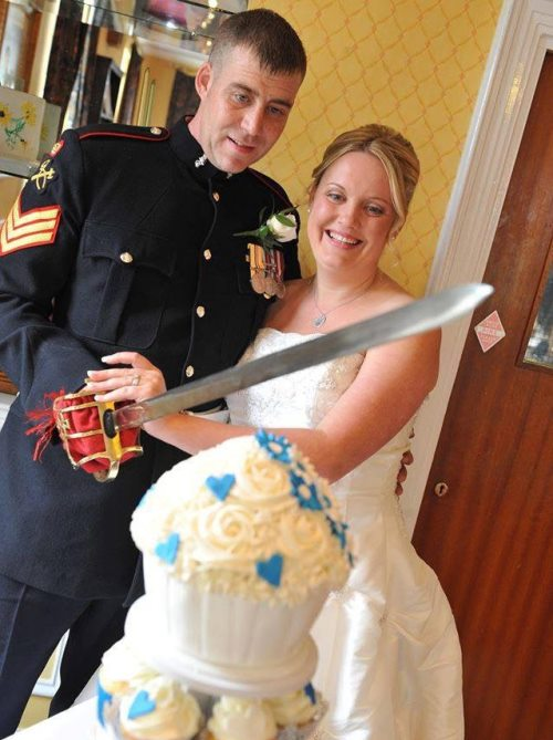 Sword Cutting Wedding Cake