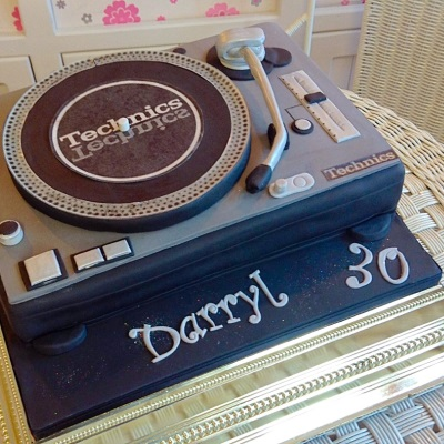 Technics Decks Mens Birthday Cake