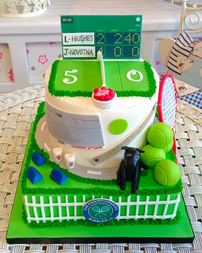 Tennis Ladies Birthday Cake