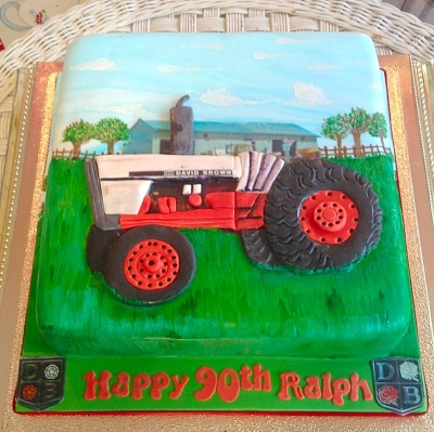 Tractor Mens Birthday Cake
